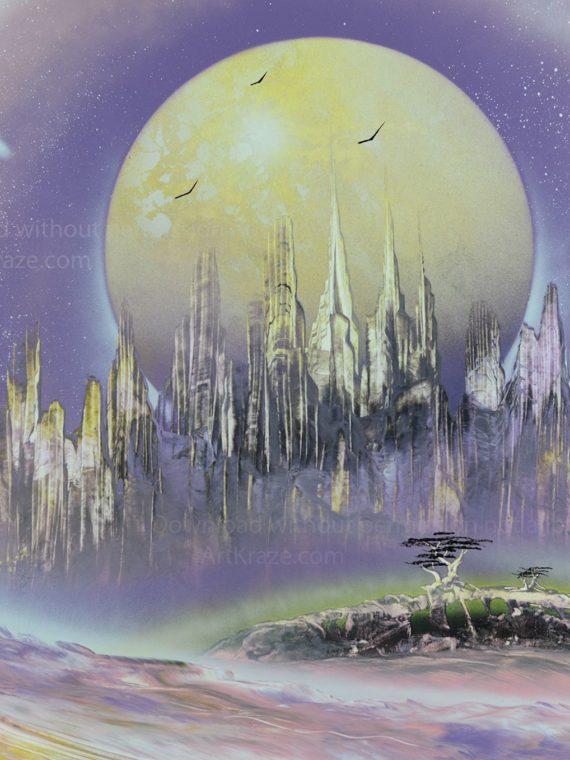 spray paint art alien city